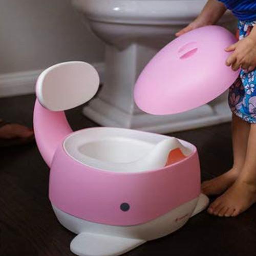 Baño de entrenamiento rosado para niñas