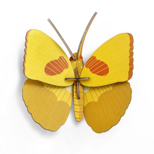 Mariposa Amarilla Decorativa de Carton 3D