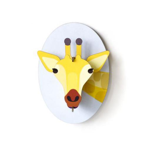Cabeza de Jirafa Decorativa de Carton 3D