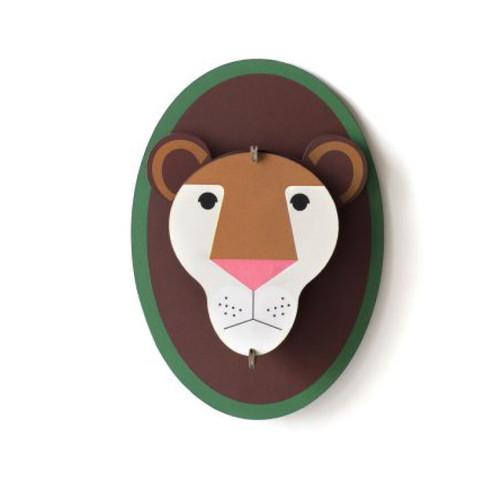Cabeza de León Decorativa de Carton 3D