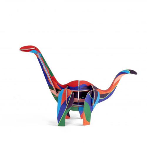 Dinosaurio Diplodocus Decorativo Armable de Cartón 3D