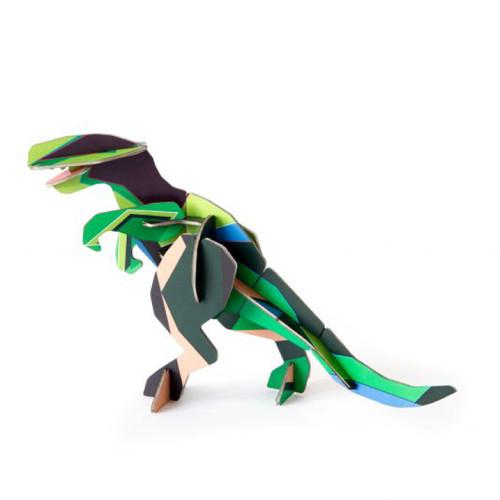 Dinosaurio T-Rex Decorativo Armable de Cartón 3D