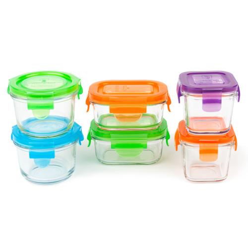Set de Contenedores  de Vidrio  3 Tamaños -6 Piezas