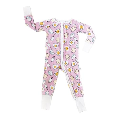 Pijama de Viscosa de Bambú de Niña Zippy Modelo Desayuno
