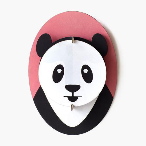 Cabeza de Panda Decorativa de Carton 3D