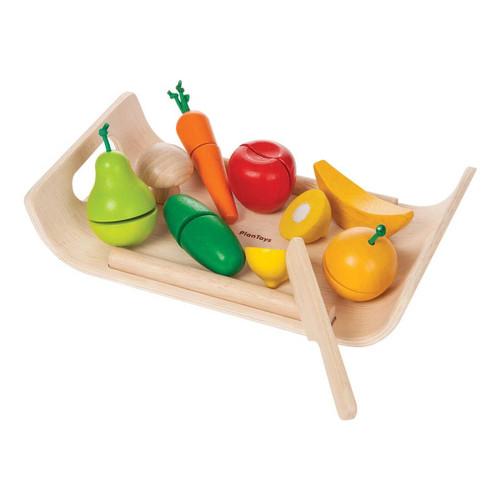 Set de Vegetales y Frutas de Madera