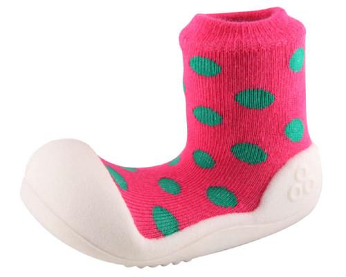 Zapatos tipo media de Bebe- Rosado