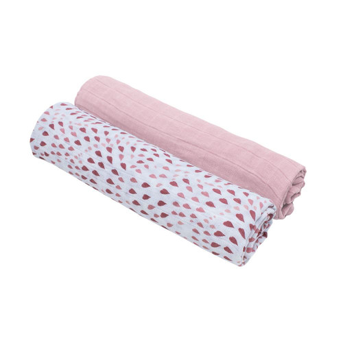 Set de Cobijas Swaddle de Muselina Rose Quartz & Petal