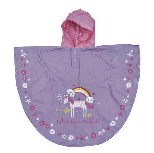 Poncho de Agua Cambia Color - Unicornio