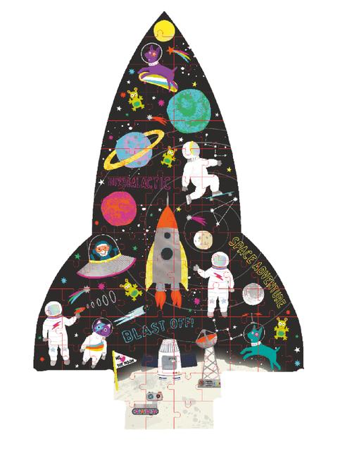 Rompecabezas con Forma 80 Piezas - Cohete Espacial