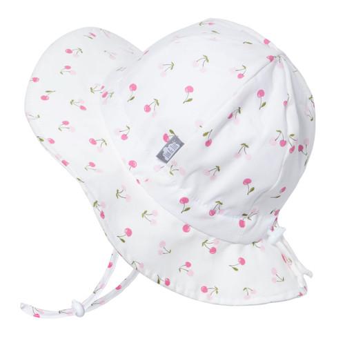 Sombrero de Algodón con protección UV tipo Ala Ancha- Cerezas