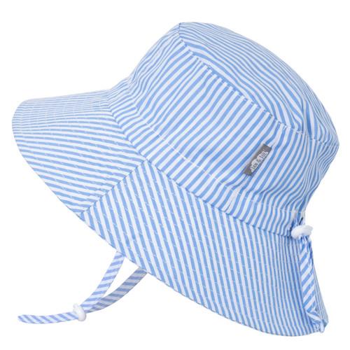 Sombrero de Algodón con protección UV tipo Bucket - Lineas Azules