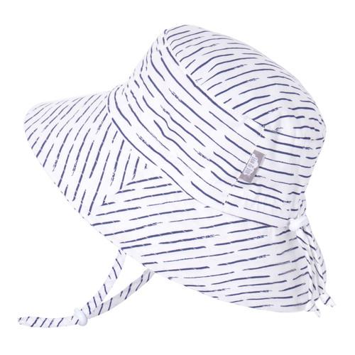 Sombrero de Algodón con protección UV tipo Bucket - Olas Blancas