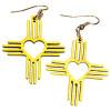 Zia Heart Dangle Earrings