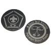 Slate Wood Badge Logo Coaster