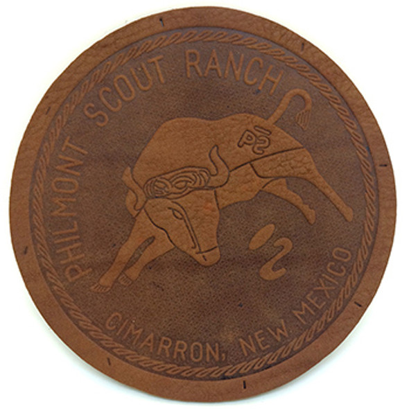"Philmont Bull - 4.75"" Leather Patch"