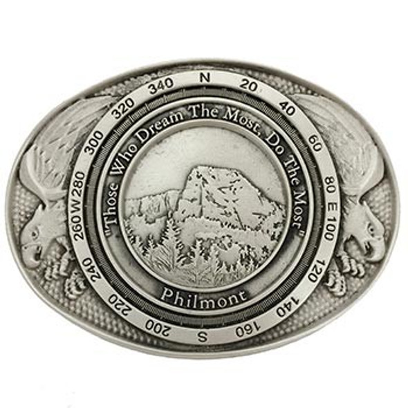 Tooth of Time Eagle Buckle - Pewter