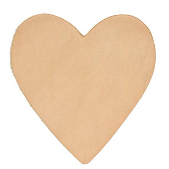 Brandable Leather Heart Shape