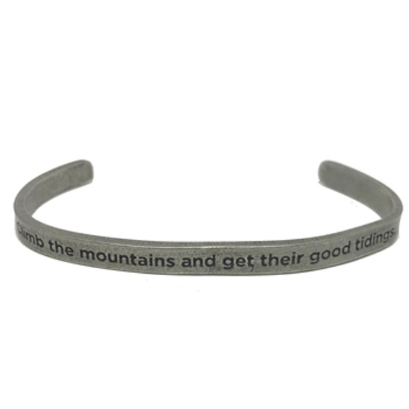 Climb the Mountains Cuff Bracelet