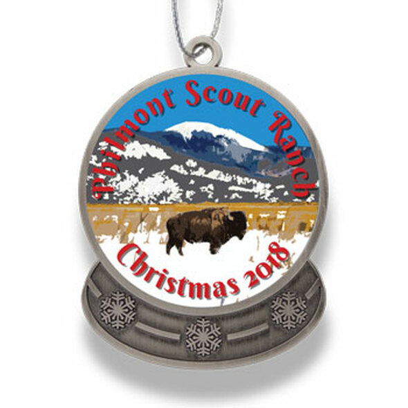 2018 Philmont Snow Globe Ornament