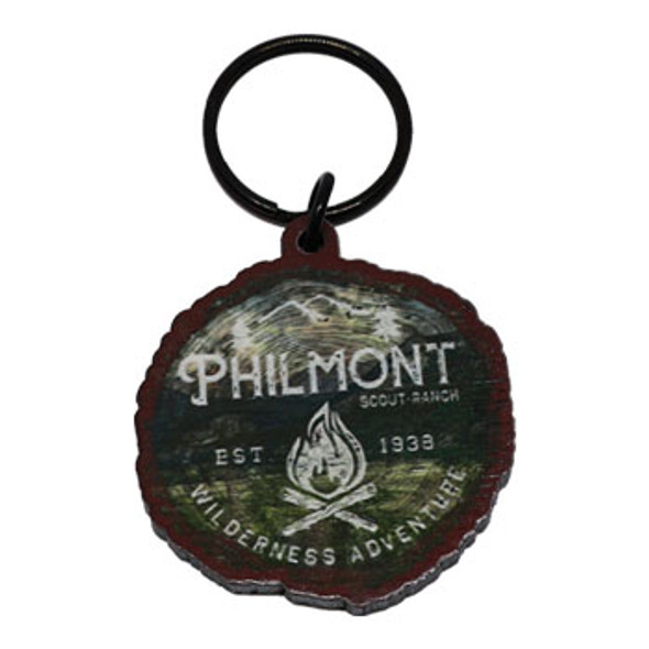 Camping Stump Keychain