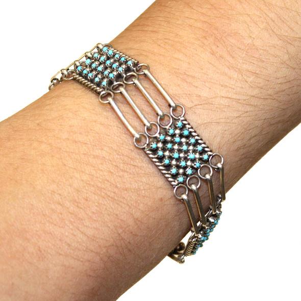 Petit Point link bracelet
