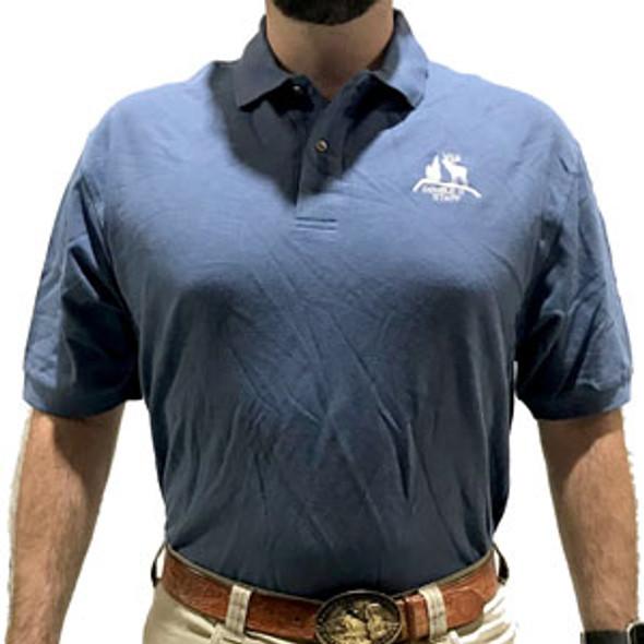 Indigo Double H Staff Polo