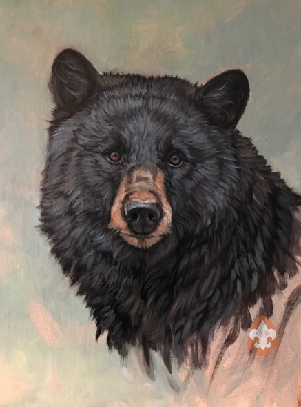 Bear print on canvas