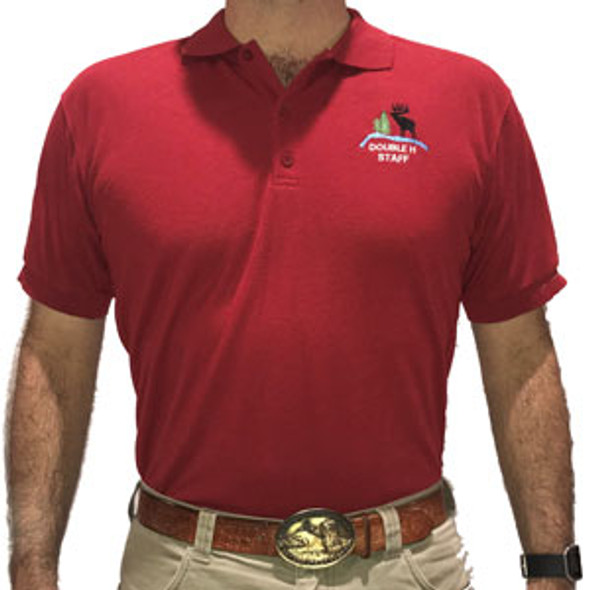 Red Double H Staff Polo