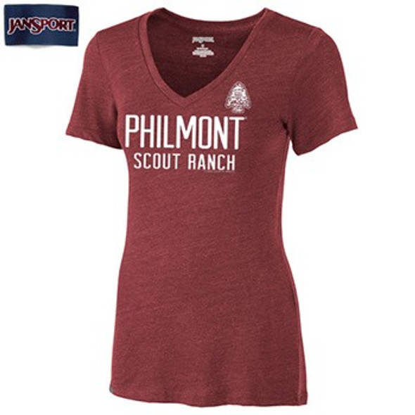 JanSport V-Neck Arrowhead Seal T-Shirt