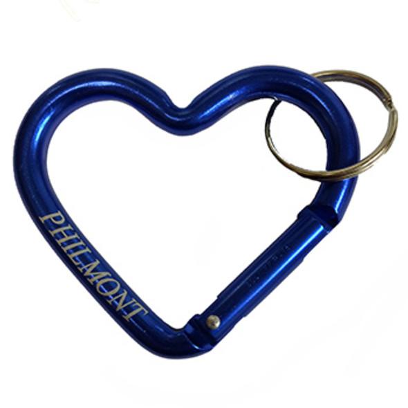 Philmont Heart Etched Carabiner