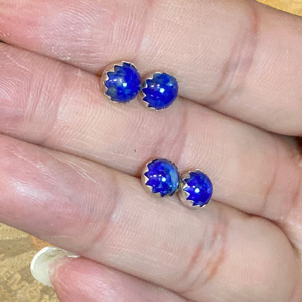 Stering Silver and Lapis Earrings