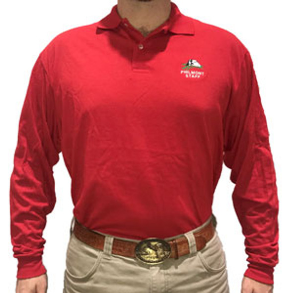 Red Long Sleeve Staff Polo *Size Small only*