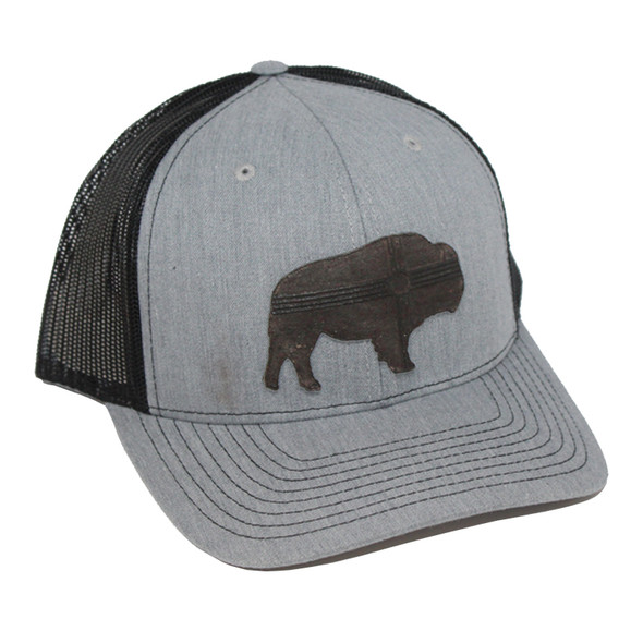 CAP GREY BISON