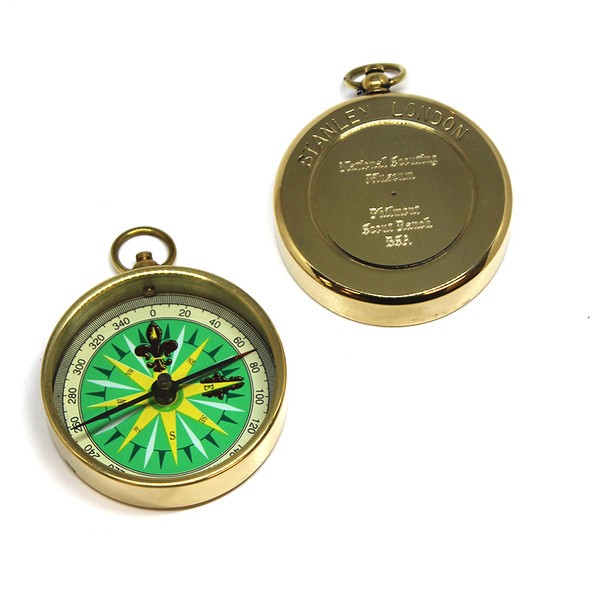 ENGRAVED BRASS POCKET COMPASS