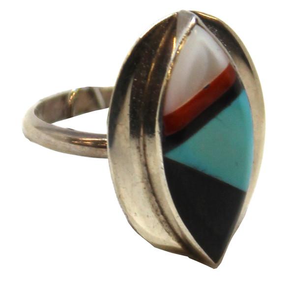 Zuni Oval Inlay Ring