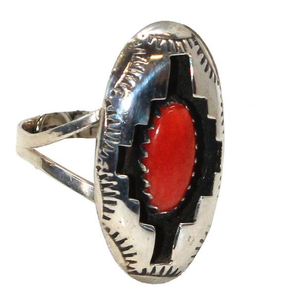 Coral Shadowbox Ring