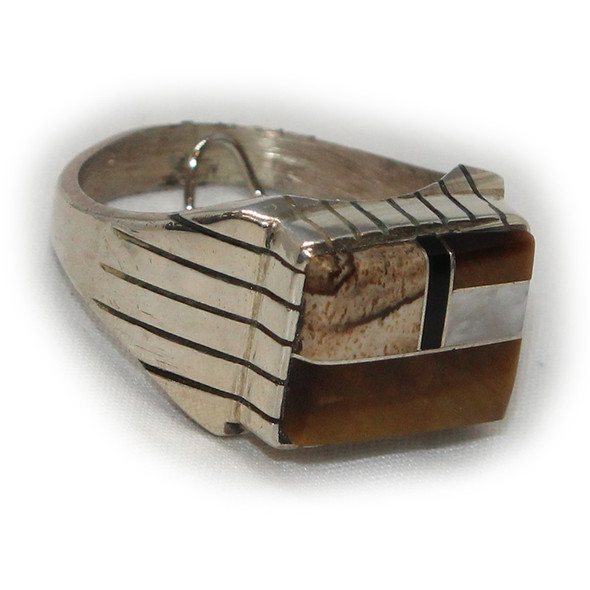 Inlay Tiger Eye Ring