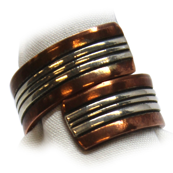 Copper/Silver Wrap Ring