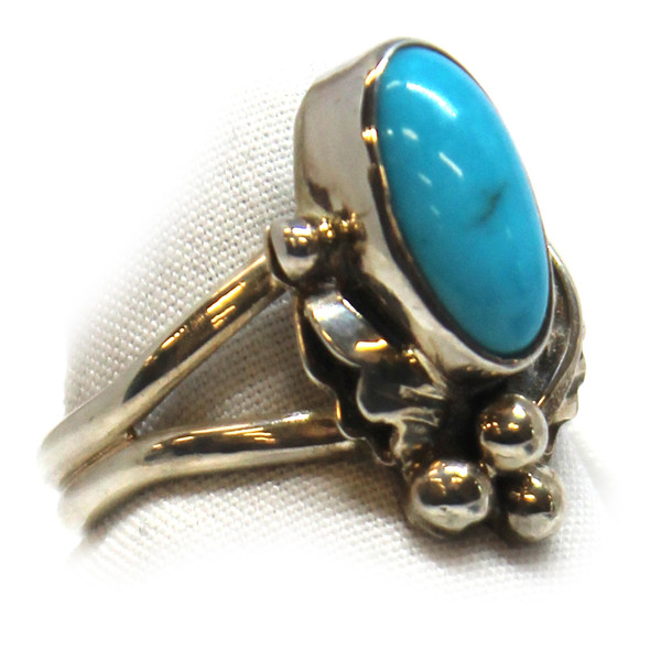 Turquoise/Leaf Ring