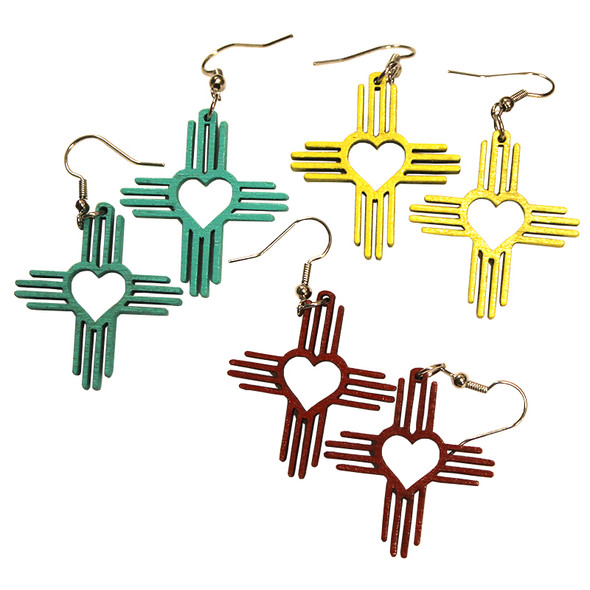 Zia Heart Dangle Earrings