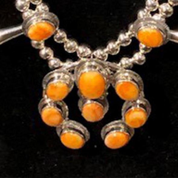 Orange Spiney Oyster Squash Blossom Set