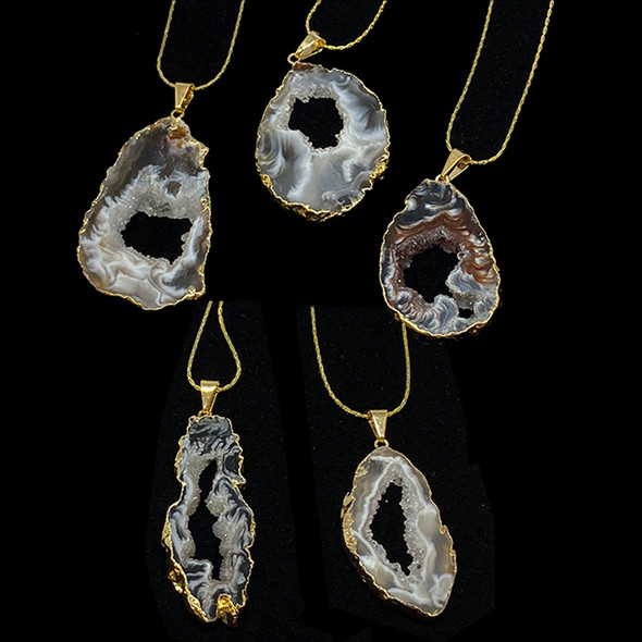 Geode Slice in Gold