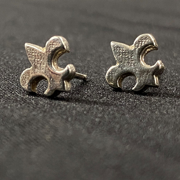 Fleur de lis Sterling Stud Earrings