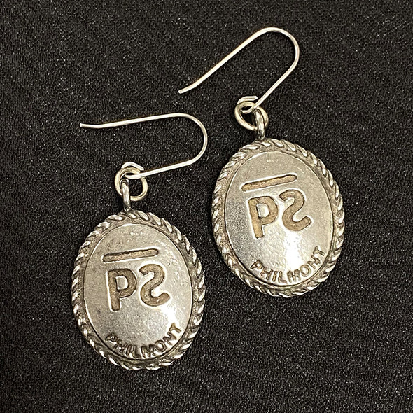 Cattle Brand Oval Earrings