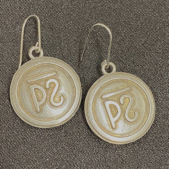 Cattle Brand Earrings Lg
