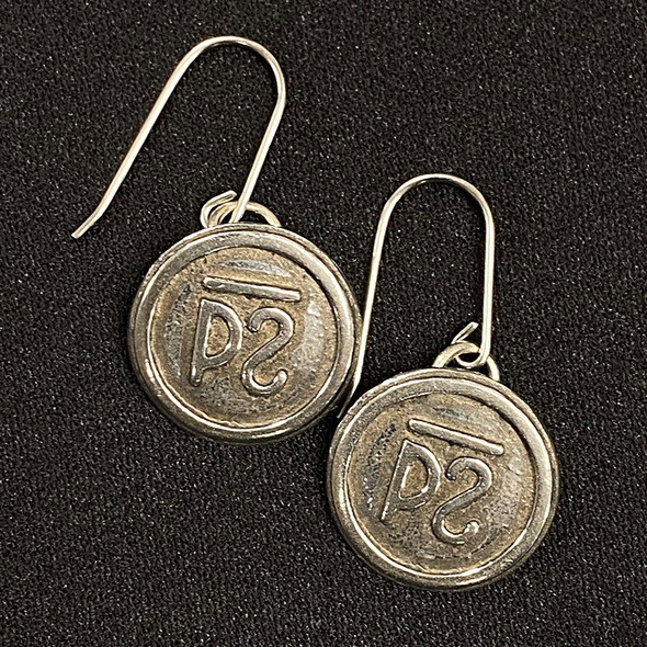Cattle Brand Earrings Sm
