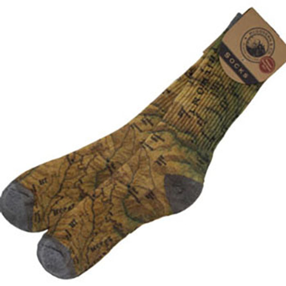 Philmont Map Socks