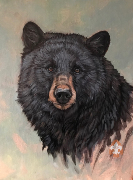 Bear on Large Canvas