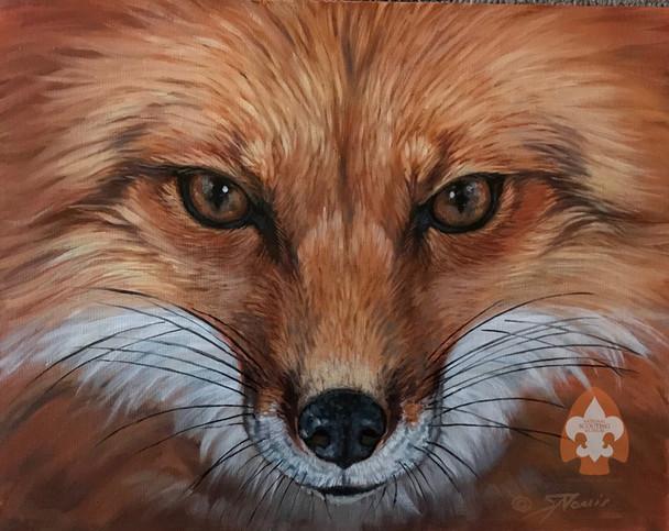 Fox on Large Canvas